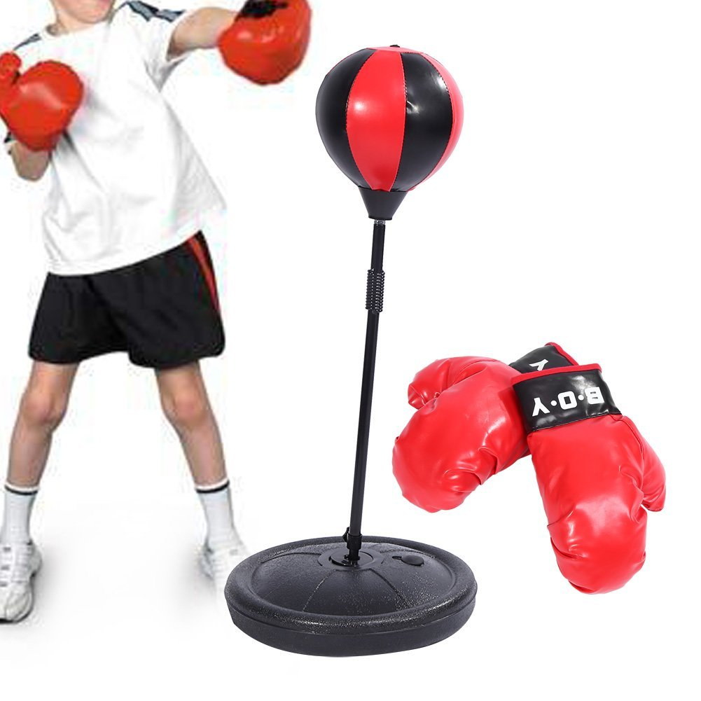 Pure Boxing Punch & Play Free-Standing Punching Bag with Bounce-Back Base, Youth Ages 4-10 by