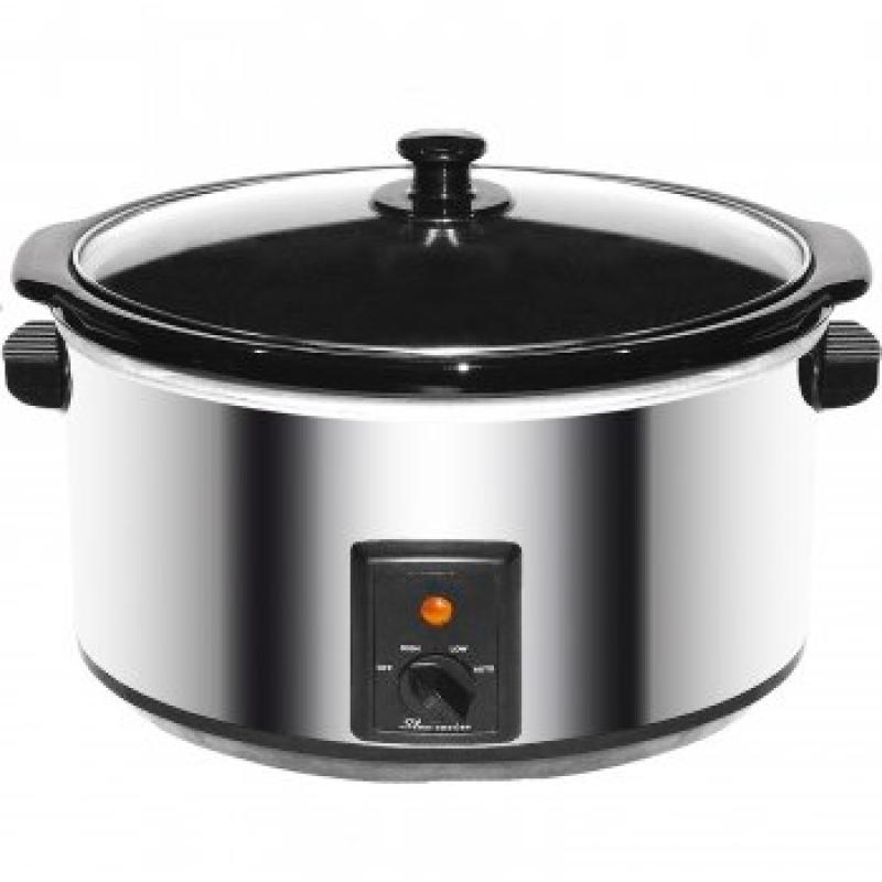 - Brentwood 8.0 Quart Slow Cooker Stainless Steel by