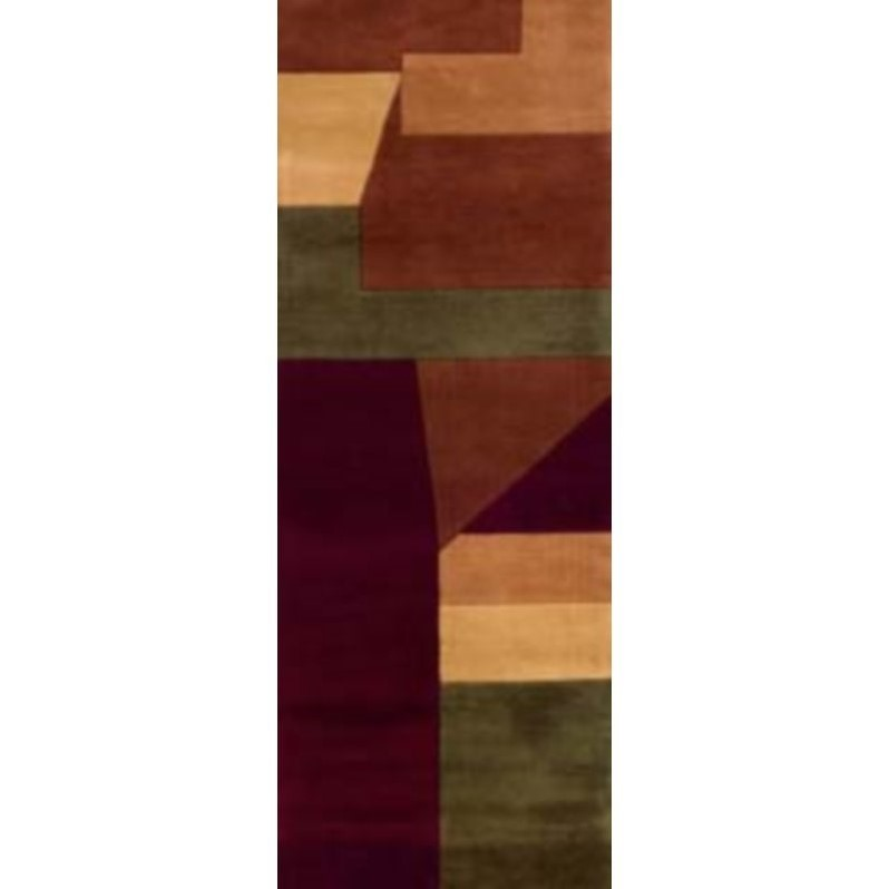 "Momeni New Wave 2'6"" X 12' Runner Rug in Wine - image 3 of 4"