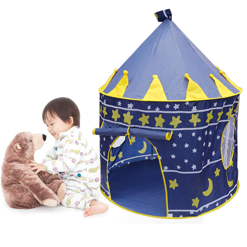 """Kids Play Tent - """"Rocket Ship"""" Kids Tent for Girls and Boys + Playhouse Tent Toddler Toys Projector for Indoor Tent or Outdoor Tent Fun"""