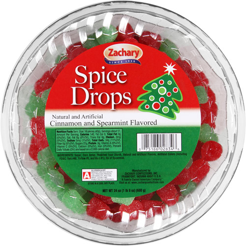 Zachary Holiday Cinnamon & Spearmint Flavored Spice Drops, 24 oz
