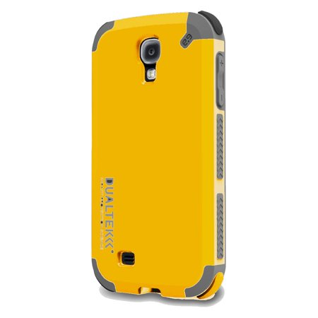 PureGear DualTek Extreme Shock Case - Protective cover for cell phone - rubber-coated plastic - matte kayak yellow - for Samsung Galaxy