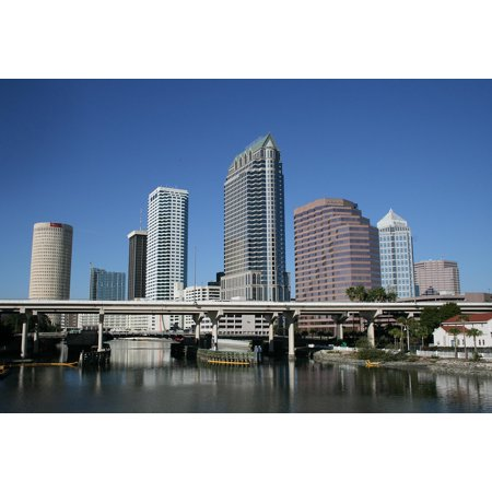 LAMINATED POSTER Cityscape Florida City Skyline Architecture Tampa Poster Print 24 x 36 - Party City Hours Tampa