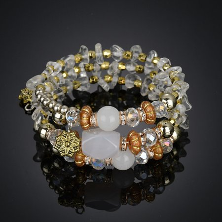 - iLH Mallroom 1PC BD New Fashion Exotic National Flavor Meltilayer Colored Stone Bracelet