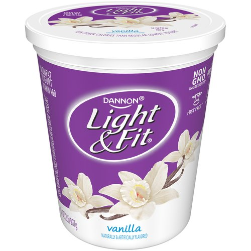 Dannon Light U0026 Fit Vanilla Nonfat Light U0026 Fit Yogurt, 32 Oz   Walmart.com Home Design Ideas