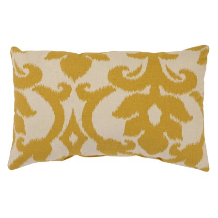 Rectangular Throw Pillow Dimensions : Pillow Perfect Azzure Marigold Rectangular Throw Pillow - Walmart.com
