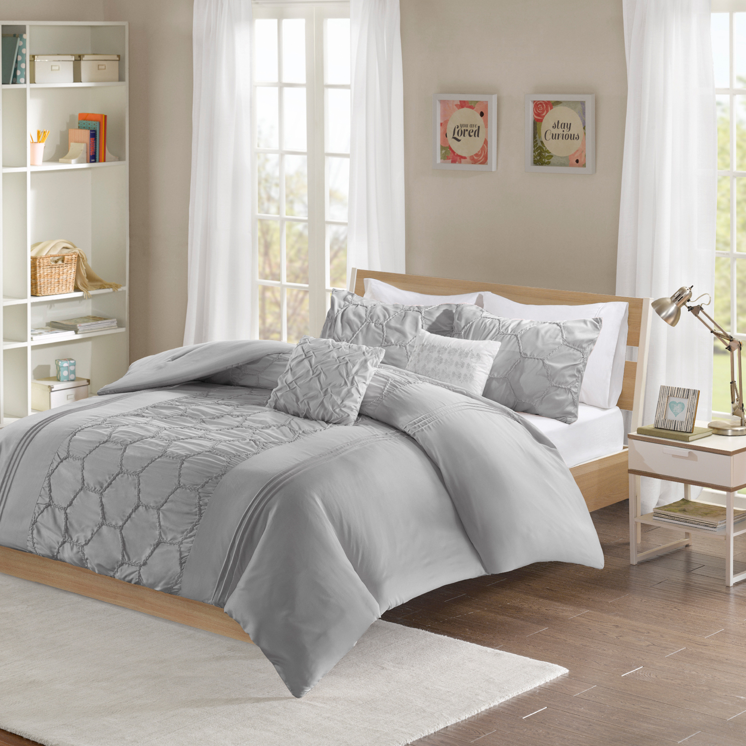 Home Essence Apartment Etta Ultra-Soft Solid Microfiber Comforter Set