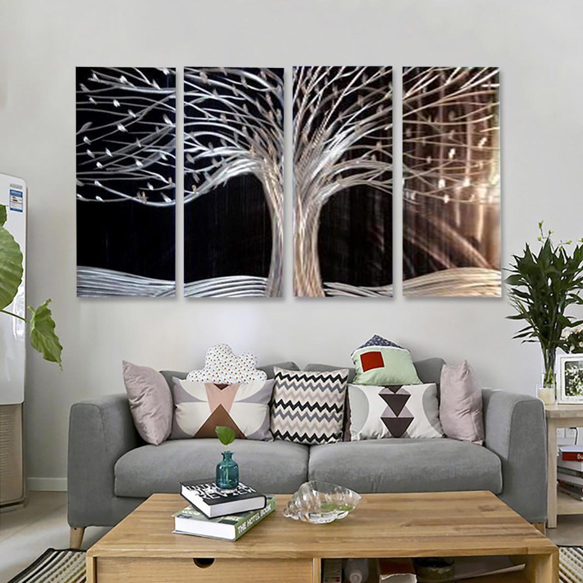 Modern Tree Canvas Painting Print Picture Home Wall Art Decoration No Frame