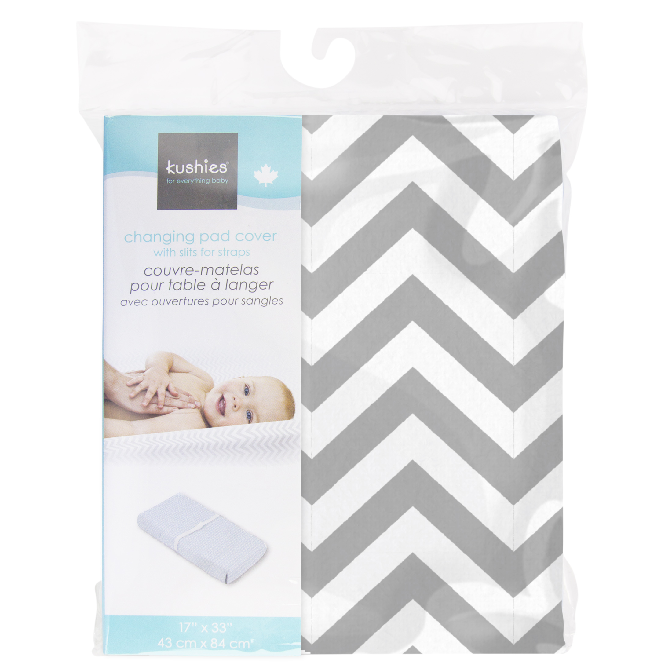 Kushies Changing Pad Cover for 1 pad Made in Canada Natural Bubbles 100/% breathable cotton