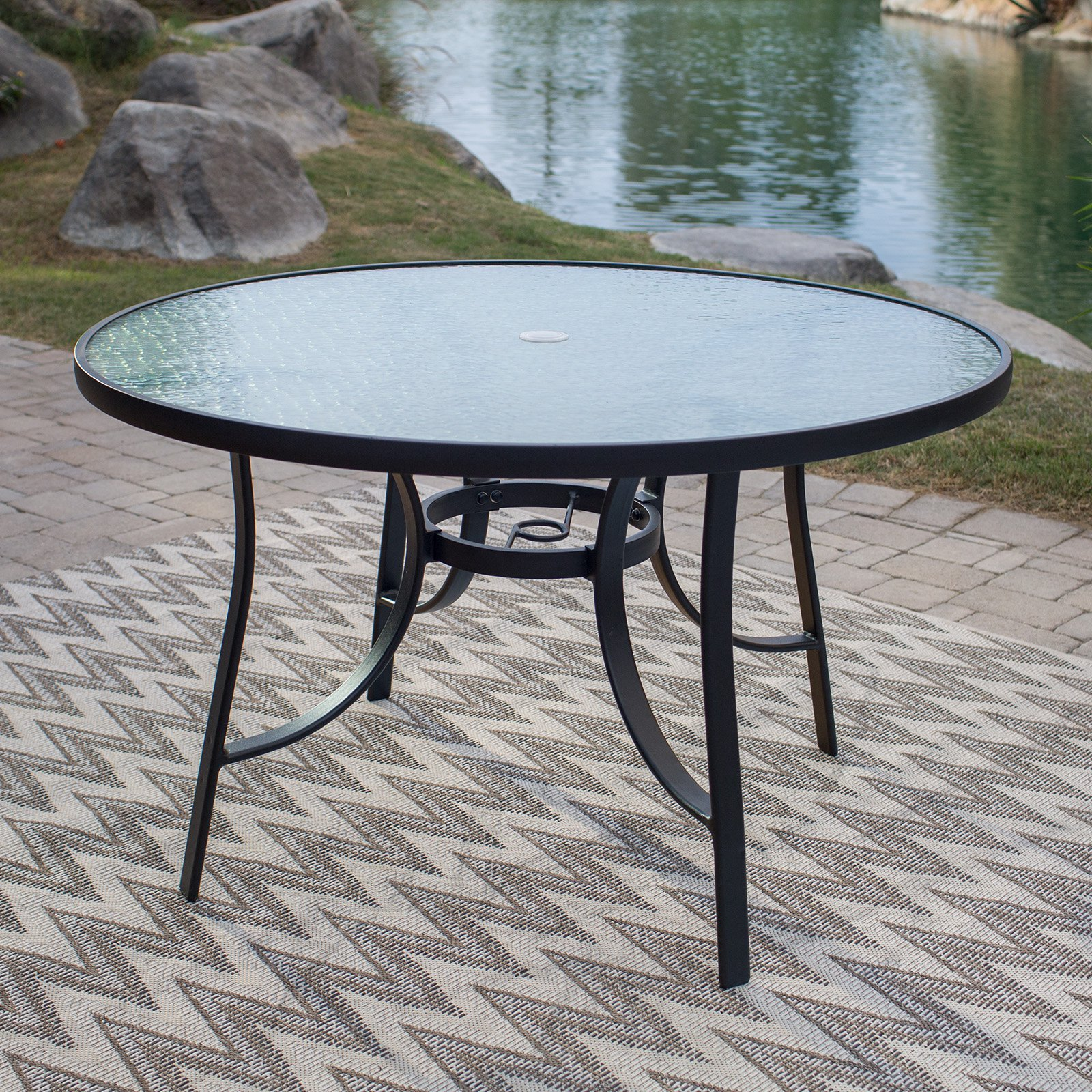 Coral Coast Wimberley 48 in. Glass-Top Dining Table