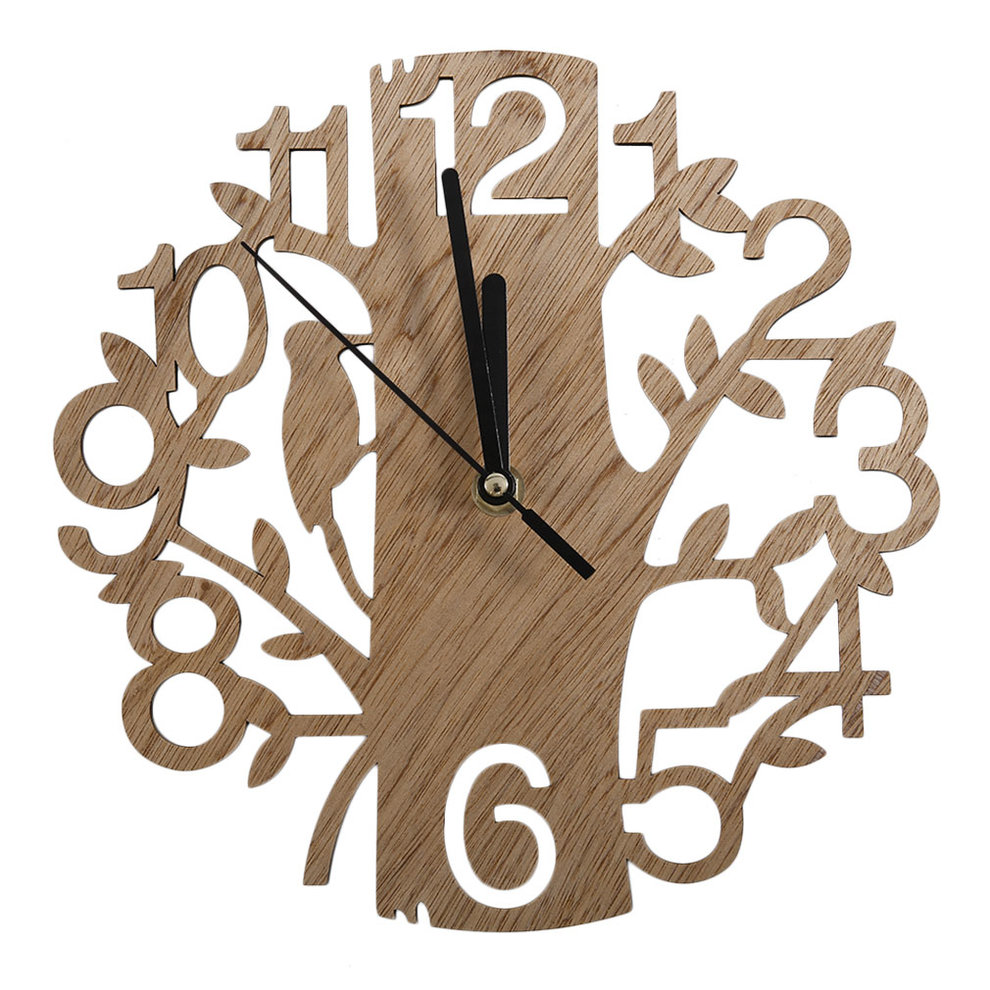 Vintage Design Wall Clock Fashion Style Home Living Room Clock Square Shape