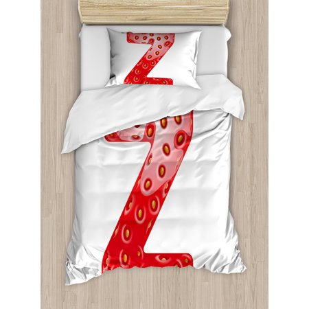 Letter z twin size duvet cover set gourmet food tasty for 360 inspired cuisine lethbridge