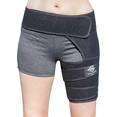 Groin Support Brace By Newgen Sports  Breathable Adjustable Sleeve For Women And Men Compression Wrap Band For Leg  Thigh  Quad  Hamstring  Hip Joints  Muscle Injury Recovery   Pain Relief