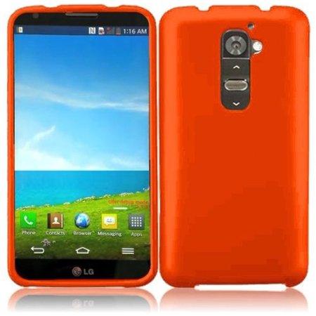 Hard Rubberized Case for LG G2 LS980 VS980 - Orange ()