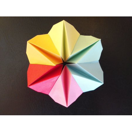 Laminated poster origami folded paper flower colorful star fold laminated poster origami folded paper flower colorful star fold poster print 24 x 36 mightylinksfo