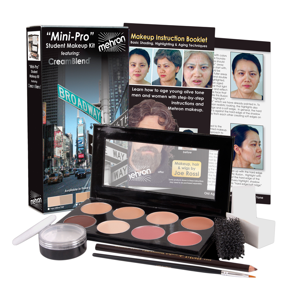 Mehron Mini-Pro Theatrical Kit Med - Fair Complexion KMP-M