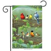 """Railbirds Spring Garden Flag Seasonal New Creative Measures 12"""" x 18"""""""