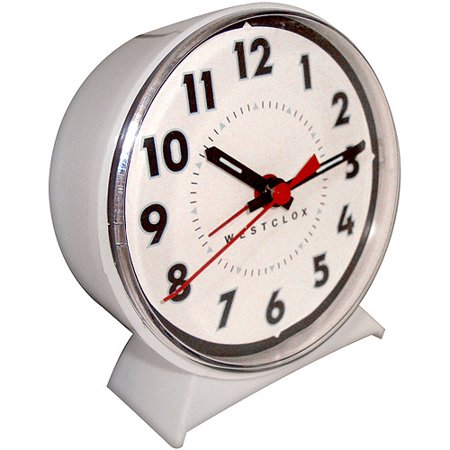 Westclox Keywound Loud Bell Analog Alarm Clock Walmart Com