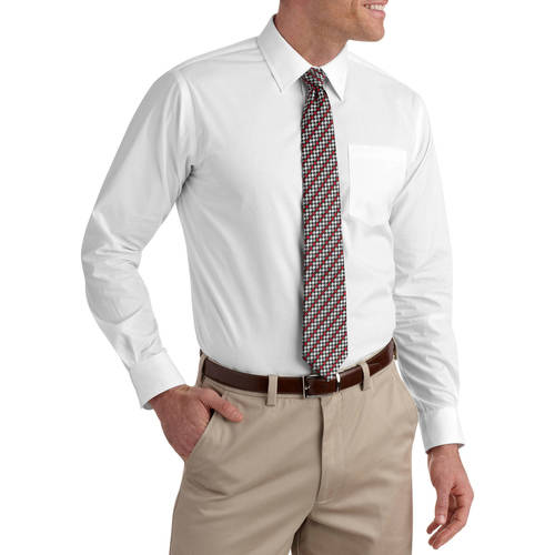 Men's Packaged Dress Shirt-Tie Set - Walmart.com