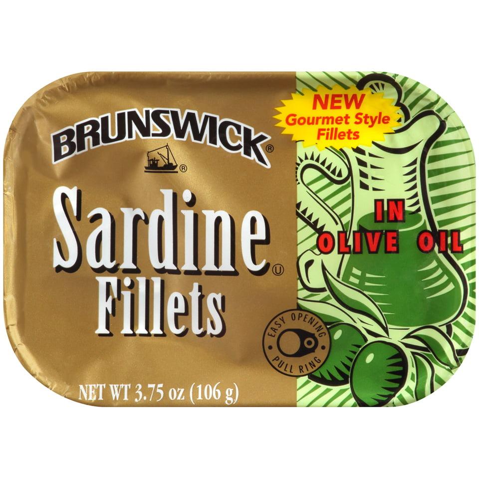 Brunswick Sardine Fillets in Olive Oil, Gluten Free Food, High ...