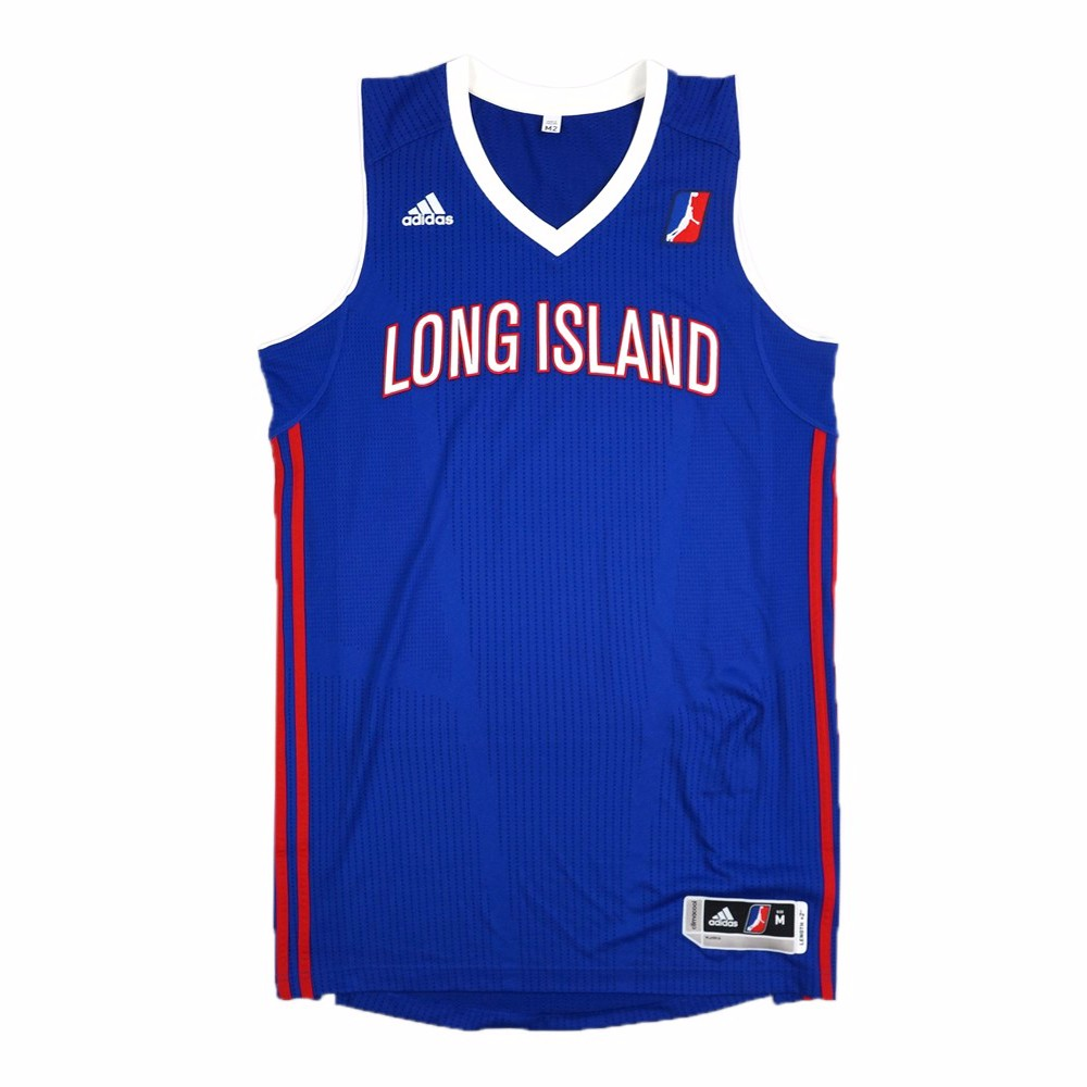 Long Island Nets NBADL Adidas Blue NBA D-League Authentic On-Court Team Issued Pro Cut Jersey Jersey For Men