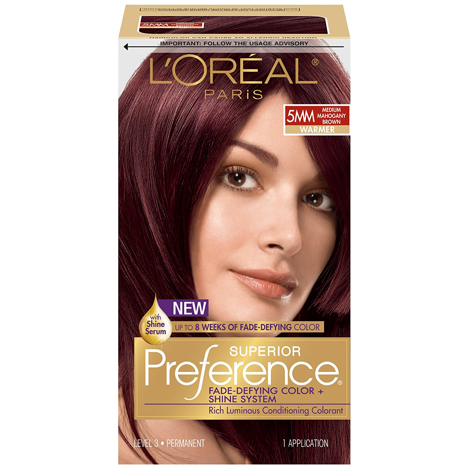 Loreal Paris Superior Preference Hair Color 5mm Medium Mahogany