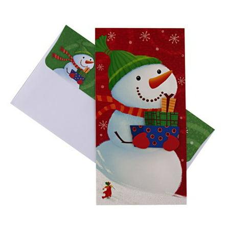 Dayspring Snowman Holding Presents Christmas Card Walmart Com