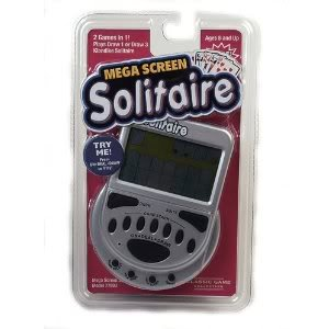 Toy / Game Mega Screen Solitaire (4.2 X 0.8 X 6 Inches ; 12 Ounces) With Large Screen For Easy Viewing