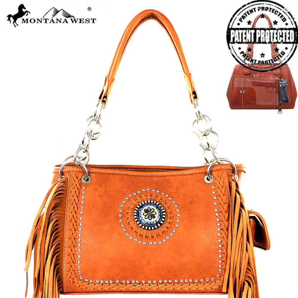 MW327G-8085 Montana West Fringe Collection Satchel