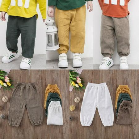 Cute Kids Baby Girls Boys Bottoms Pantalettes Trousers Leggings Cotton Pants
