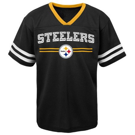 Newborn Football Jersey Shirt - Newborn & Infant Black Pittsburgh Steelers Mesh Jersey T-Shirt