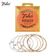 ZIKO DCZ-011 Custom Light Acoustic Guitar Strings Hexagon Alloy Wire Brass Wound Corrosion Resistant 6 Strings Set Musical Instrument Accessories