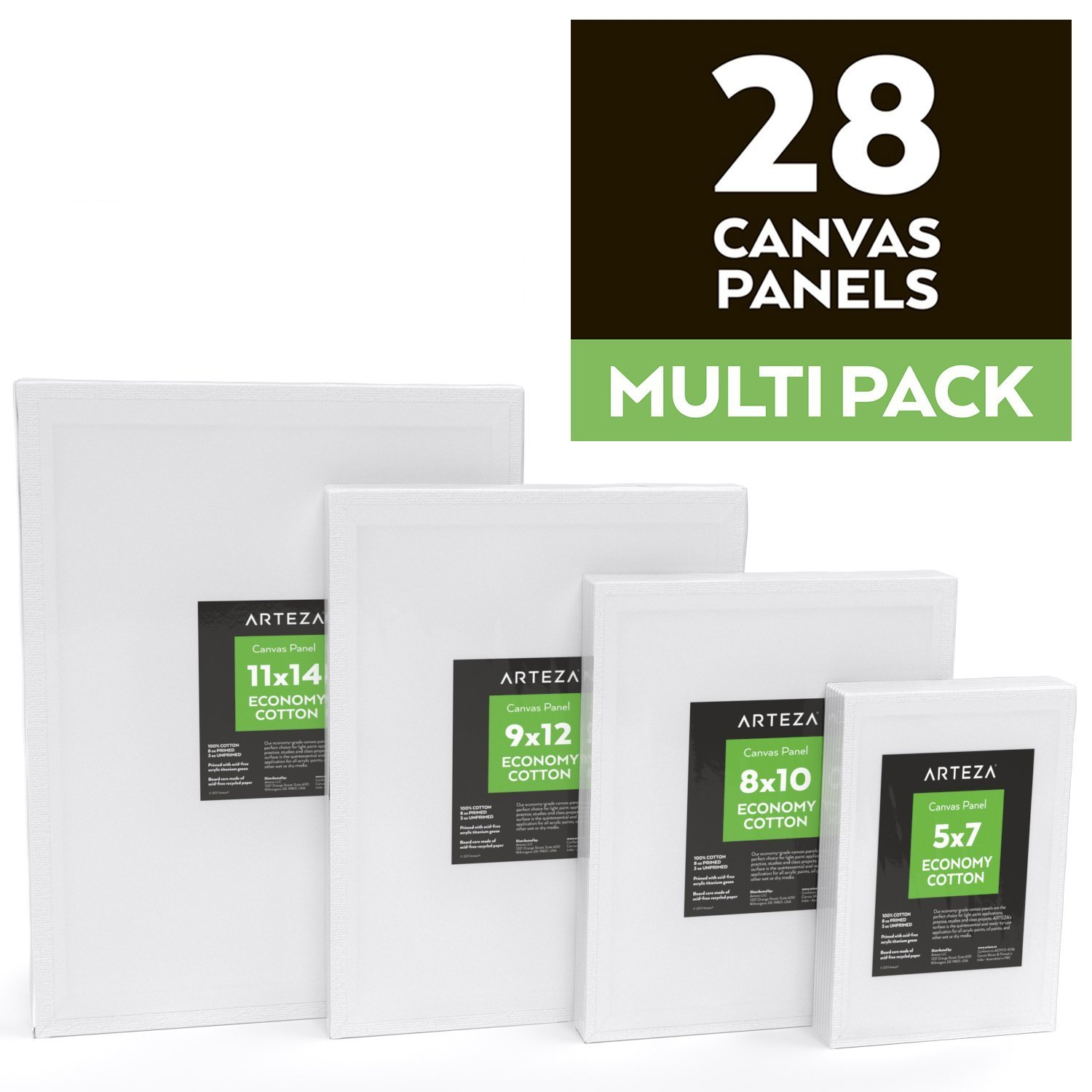 6 Pack Lot Canvas Panels 11x14in White 100/% Cotton Art Supplies Oil Acrylic Art
