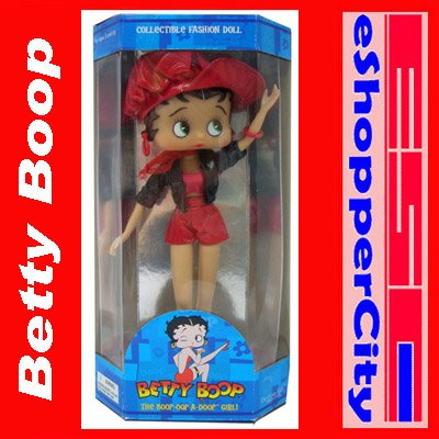 "Betty Boop 10"" Mini Doll  Biker w/ Doll Stand, New Gift Cartoon TV By Precious Kids 31010 31010"