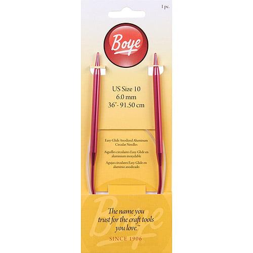 "Boye Knit Needle 36"" Circular Aluminum Size 10"