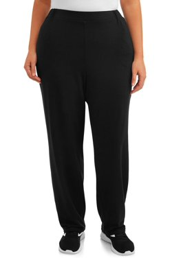 Terra & Sky Women's Plus Size Knit Pant (Regular and Petite Lengths)
