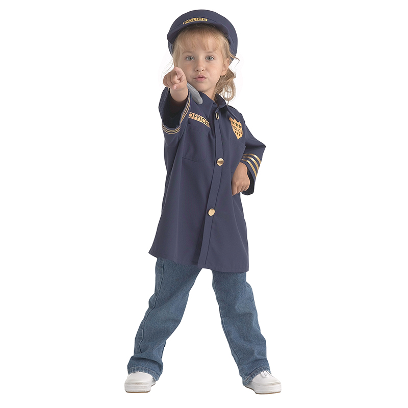Brand New World Career Costume, Police Officer, Ages 3-6, Multicolor by Brand New World