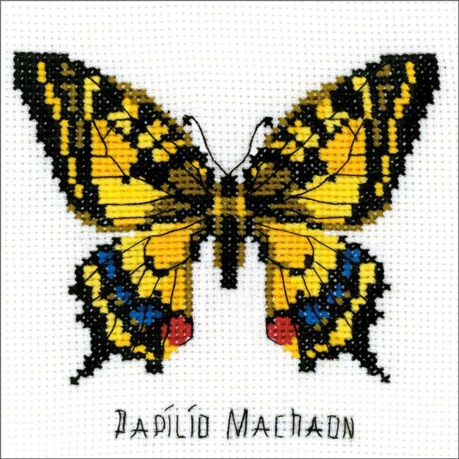 Swallowtail Butterfly Counted Cross Stitch