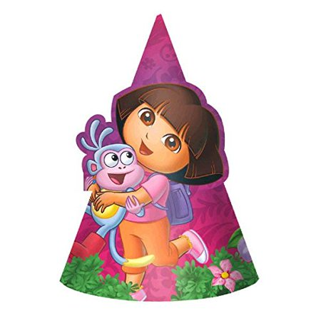 American Greetings Dora The Explorer Hats Party Supplies (8 - Dora Party Supplies
