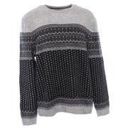 NEW Black Gray Mens Size 2XL Crewneck Wool Knit Sweater $89