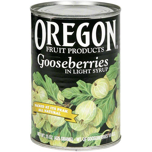 Oregon Fruit Gooseberries In Light Syrup, 15 oz (Pack of 8)