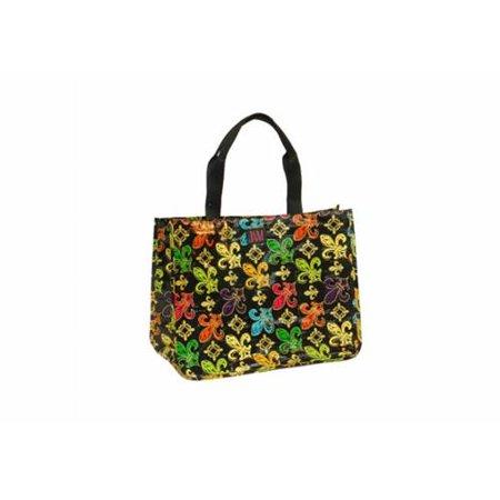 Joann Marie Designs P2rtbfdl Poly R  Tote   Black Fleur De Lis Pack Of 6