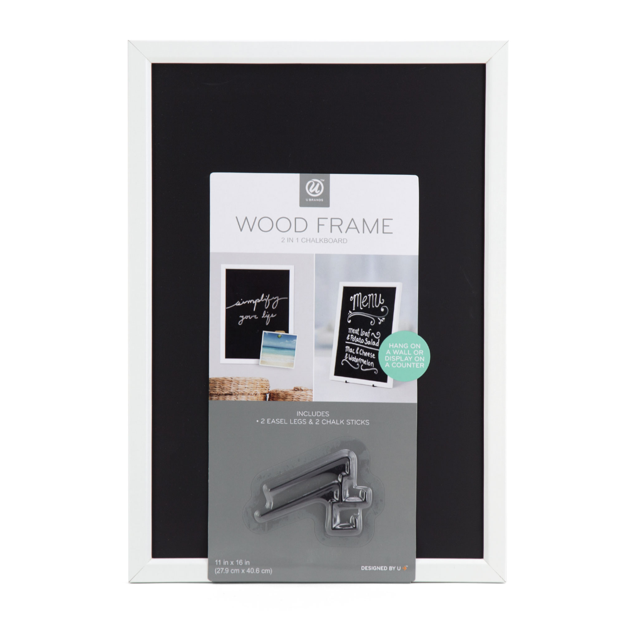 U Brands Chalk Board and Easel Combo Board, 11 x 16 Inches, White ...