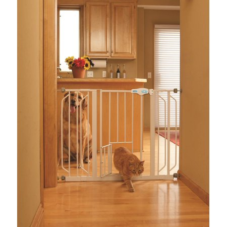 Extra Wide Pet Gate With Small Door Great For Extra Wide