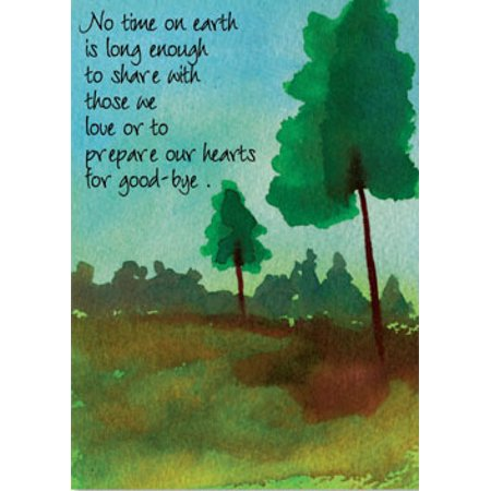 Recycled Paper Greetings Time on Earth Sympathy Card