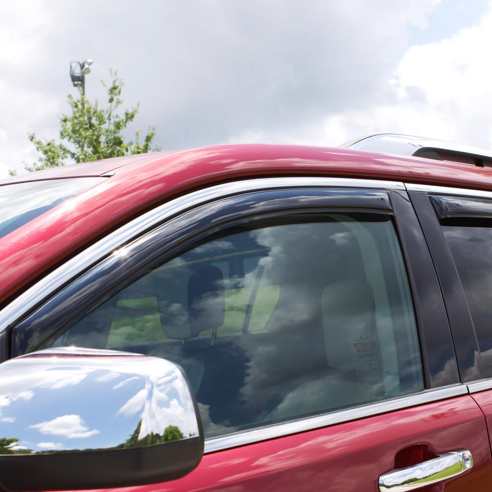 Auto Ventshade 194975 In-Channel Ventvisor Side Window Deflector 4-Piece Set for 2015-2019 Ford F-150 SuperCrew