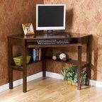 Sauder Beginnings Corner Computer Desk Cinnamon Cherry Walmart Com