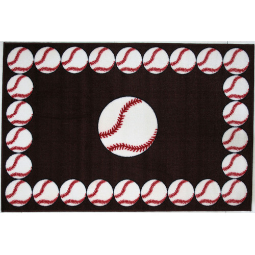 Fun Rugs BASEBALL TIME Kids Rugs