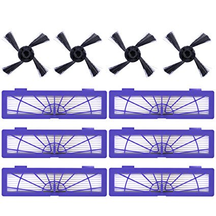 Keepow Replacement 6 High Performance Filters And 4 Side Brushes For Neato Botvac D Series D80