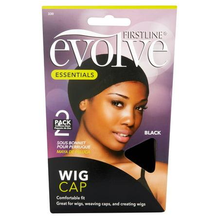 cb55c38f8d9 Evolve Wig Cap Black - Walmart.com